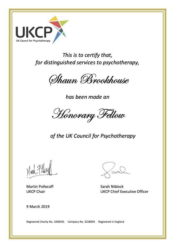 Honorary Fellow of UKCP